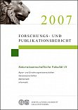 Forschungs- und Publikationsbericht 2007 - Cover